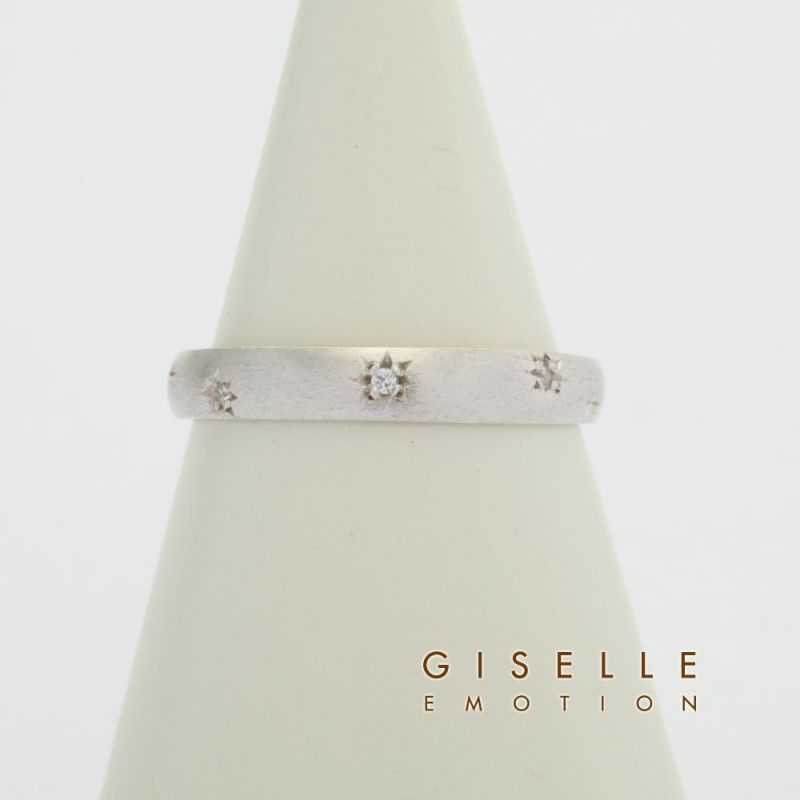 プラチナ製ダイヤモンド0.5カラットペアリングのディティール画像