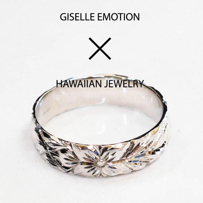 ハワイアンジュエリー ペアリング『ハードプラチナ950ダイヤモンドリング』深堀りの男性用着用画像