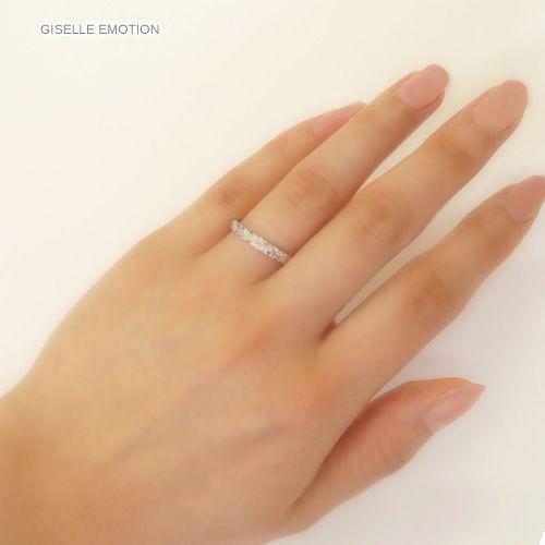 ハワイアンジュエリー ペアリング『ハードプラチナ950ダイヤモンドリング』深堀りの男女セット画像