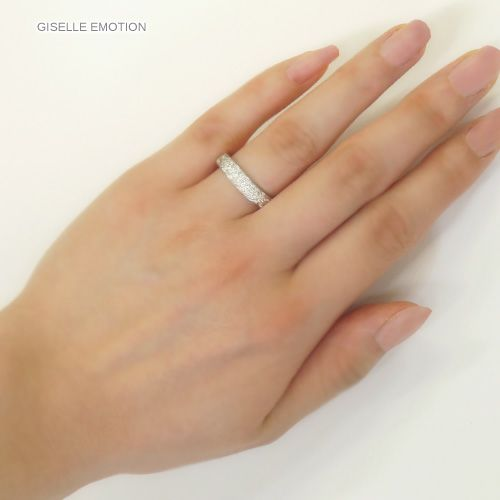 結婚指輪 ハワイアンジュエリー ペアリング『プラチナ900ダイヤモンドリング0.31CT』の男女セット画像